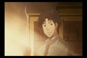 honey and clover 22 shuu sensei sunset smoking
